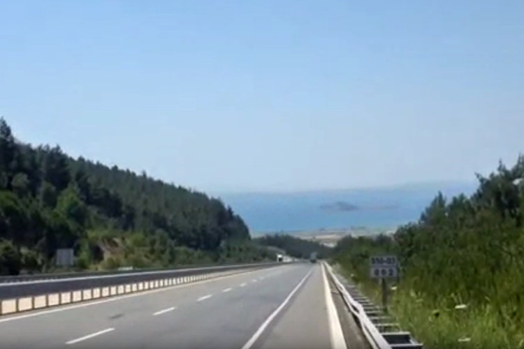 Das erste Mal das Marmarameer in Sicht