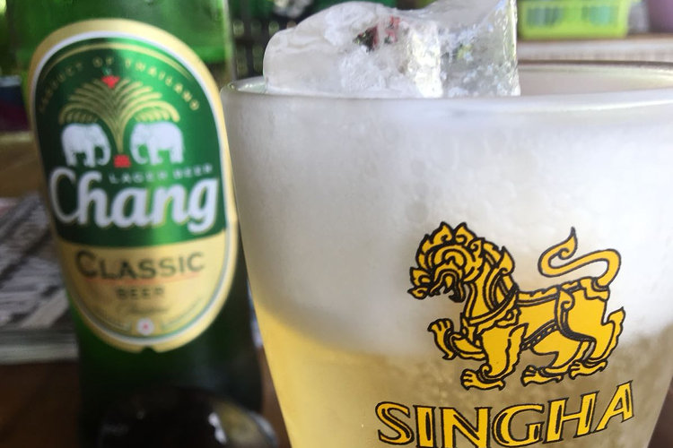 Ein Bier im Hotel