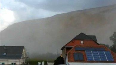 Bild von Dichte Staubwolke am Kaliberg verunsichert Anwohner