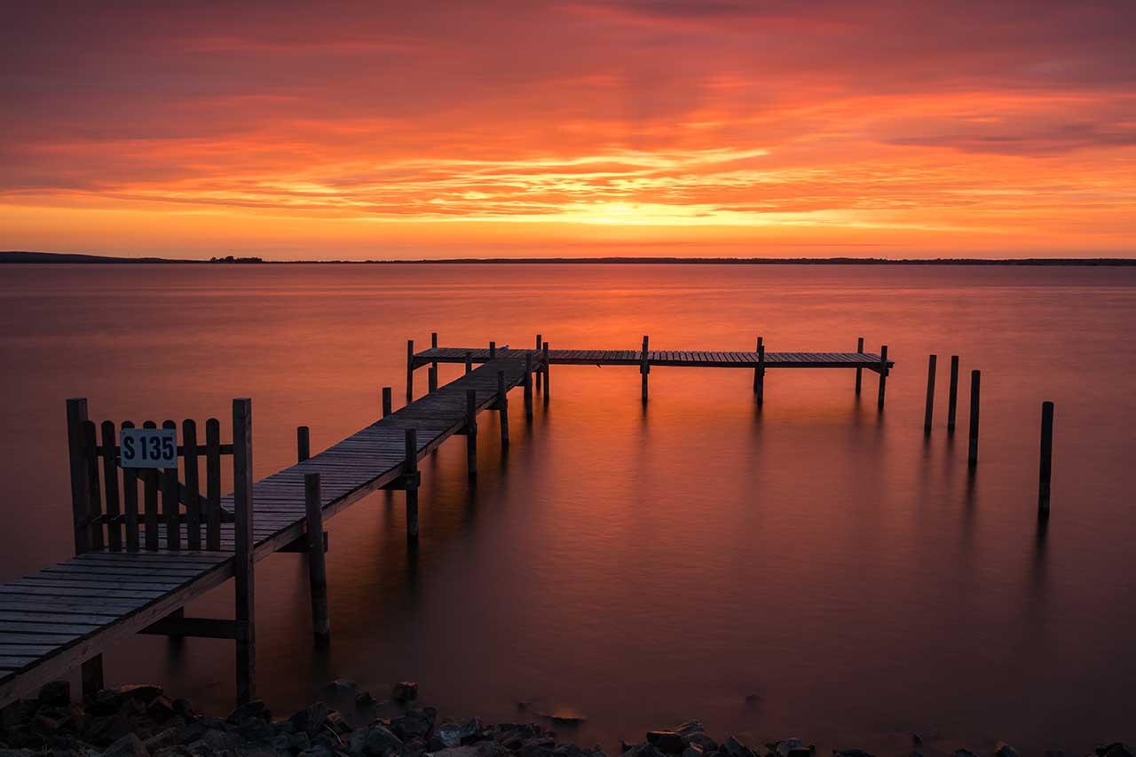 Rote Sonne am Steinhuder Meer