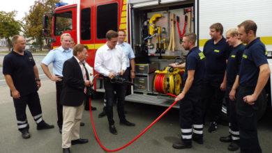 Bild von Lechner zu Besuch bei der Wunstorfer Feuerwehr