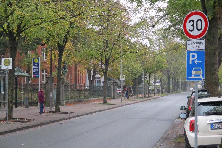 30er-Bereich Hindenburgstraße
