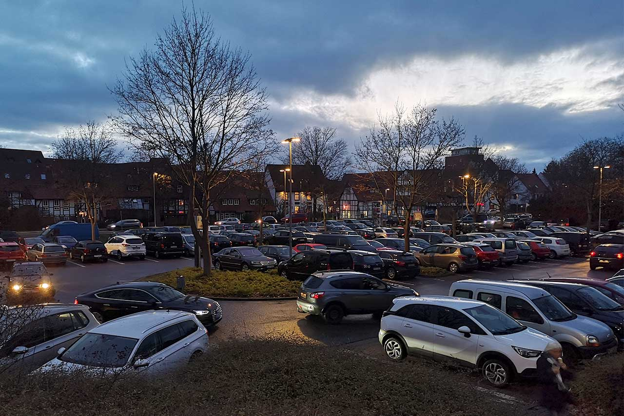 Parkplatzsuche in der Innenstadt Wunstorf