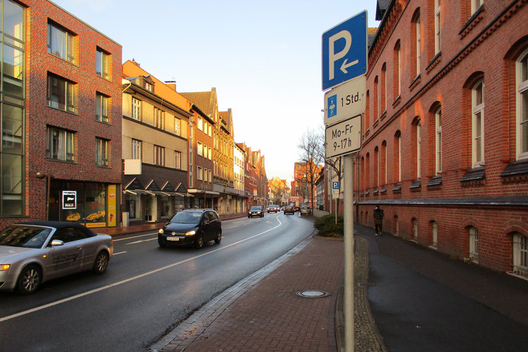 Kurzzeitparkplatz in Wunstorf