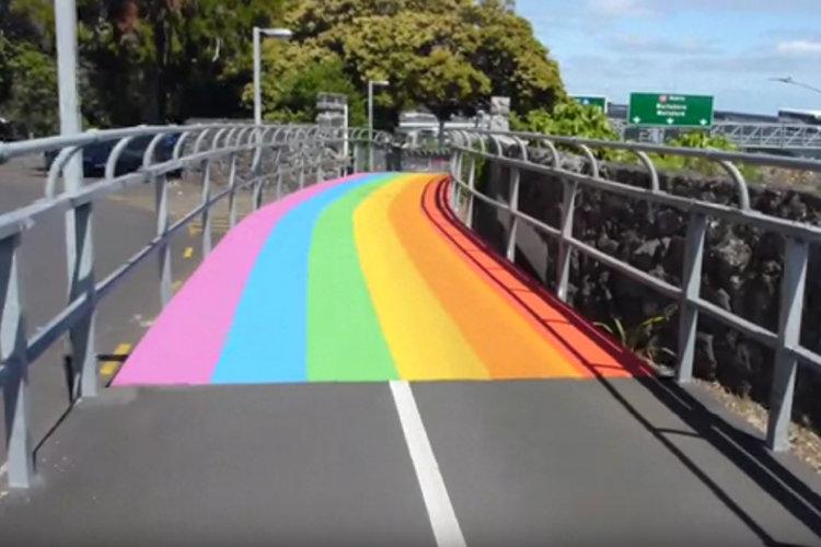 ... Regenbogen-Fahrradwegen