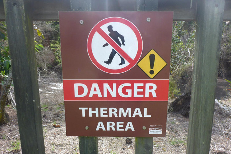Gefahren in Neuseeland