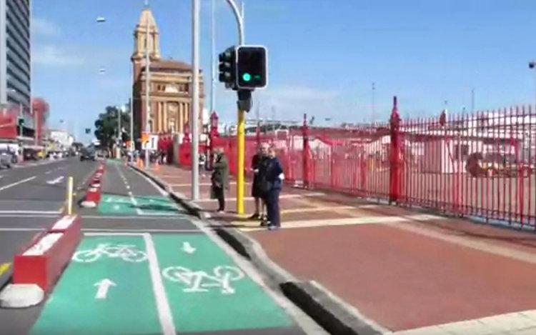 Normale Fahrradwege in Auckland