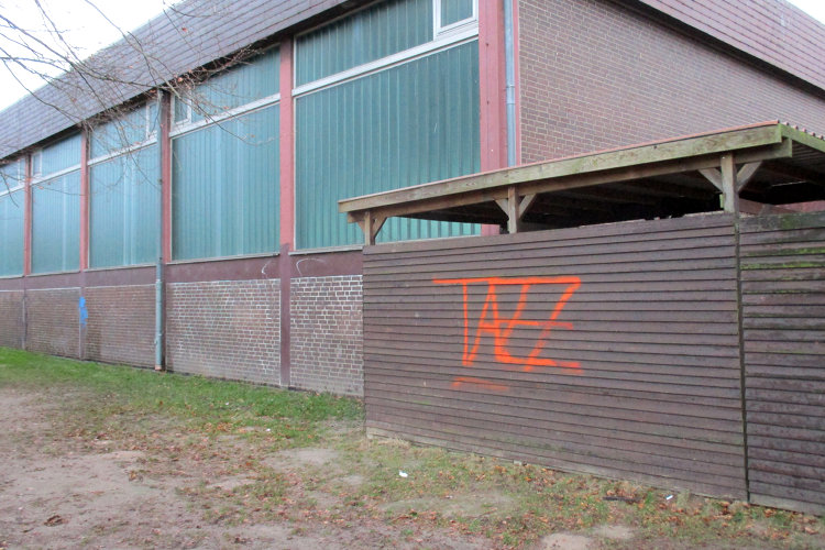Graffiti Turnhalle