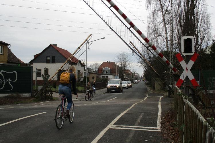 Bahnübergang in Wunstorf