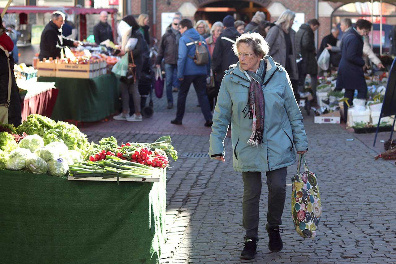 Reichlich Sonne am Markttag