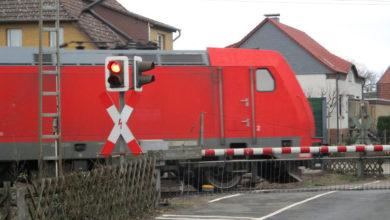 Bild von Bahnübergang Luther Weg voll gesperrt
