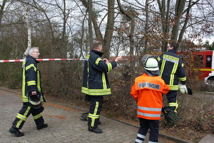 Absperrmaßnahmen der Feuerwehr