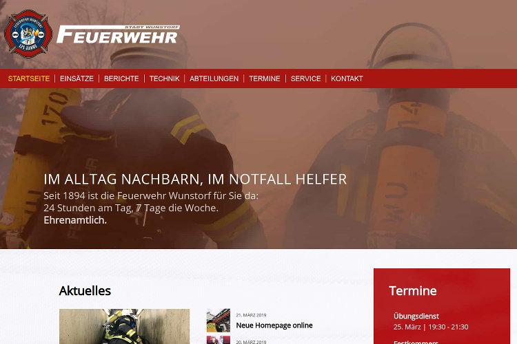 Feuerwehr-Website