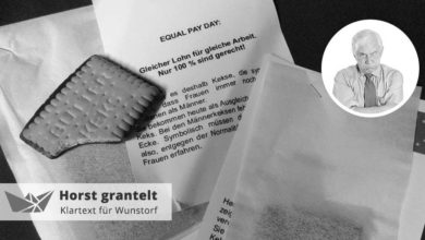 Horst grantelt zum Equal Pay Day