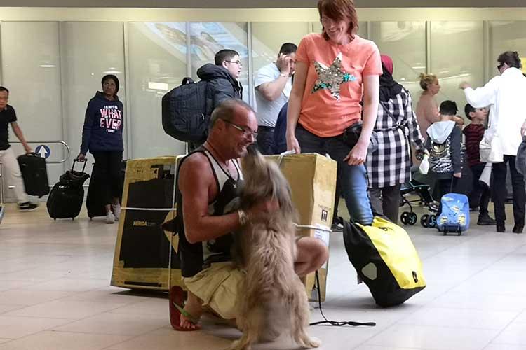 Ralf Völkers mit Hund