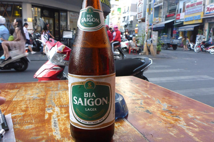 Bierpause in Vietnam