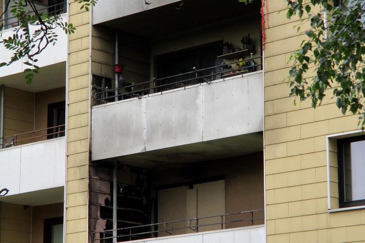 Verrußte Balkone