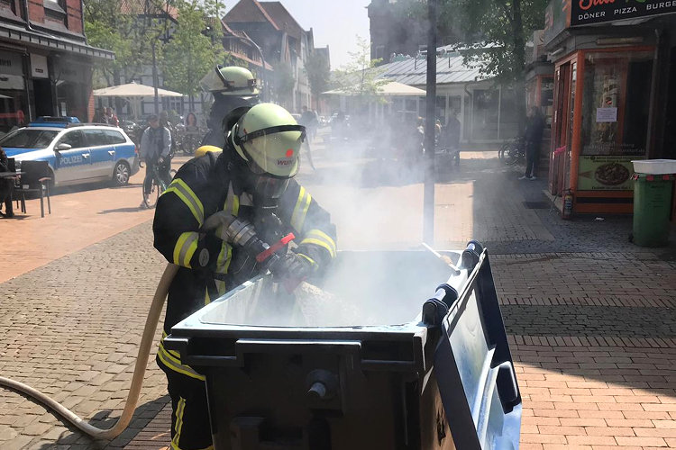 Feuerwehr in der Südstraße
