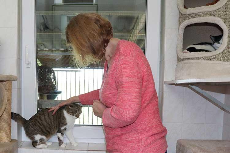 Kerstin Paulmann, leidenschaftliche Katzenkuschlerin