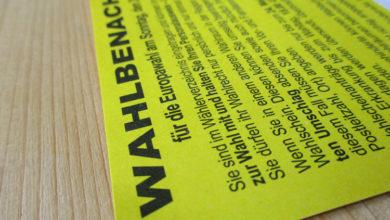 Bild von Wahlbenachrichtigungskarten in Wunstorf falsch zugestellt