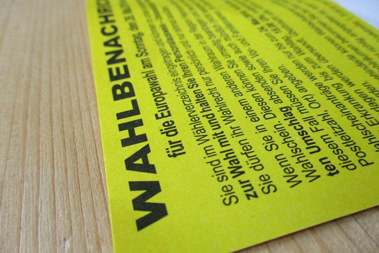 Wunstorfer Wahlbenachrichtigungskarte