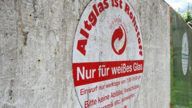 Bild von Wertstoffinsel an Luther Grundschule wird abgebaut