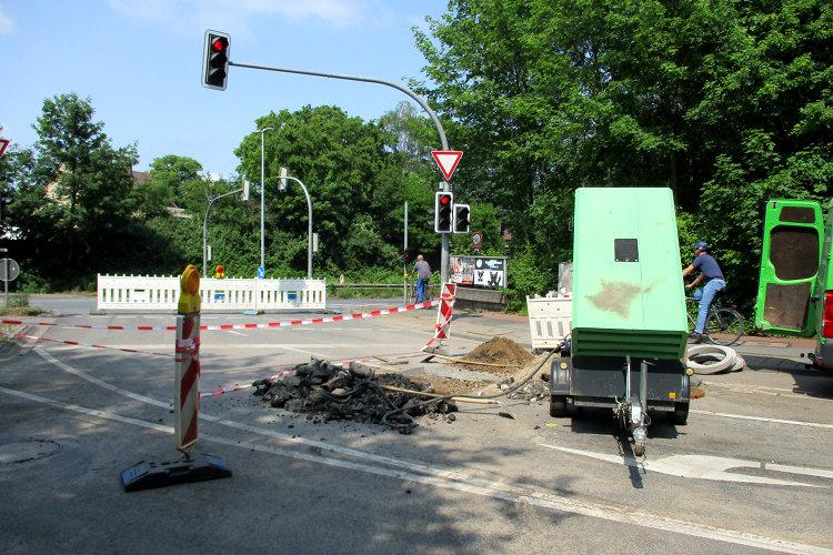 Bauarbeiten Kolenfelder Straße