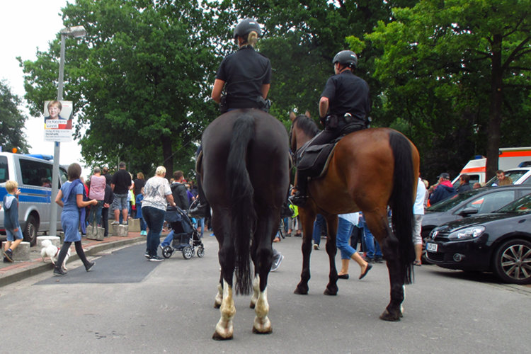 Berittene Polizei in Steinhude