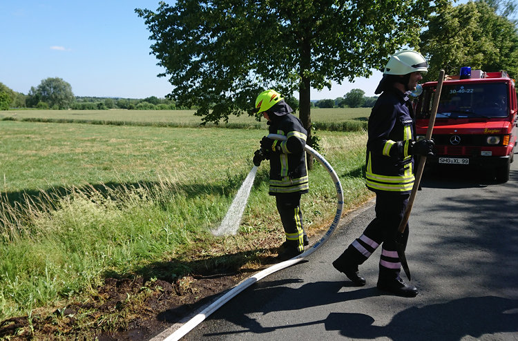 Photo of Böschungsbrand in Auhagen