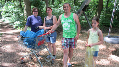 Müllsammelaktion im Barnewäldchen