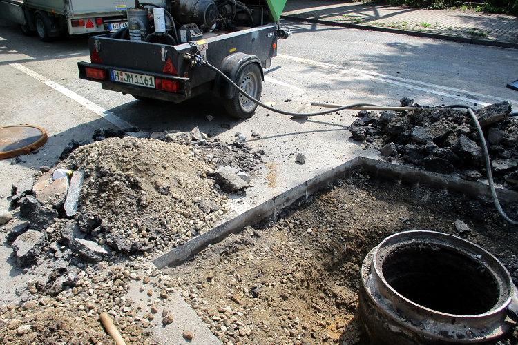 Kanalschachtbauarbeiten