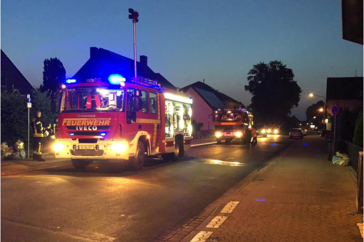 Feuerwehreinsatz Hauptstraße Luthe