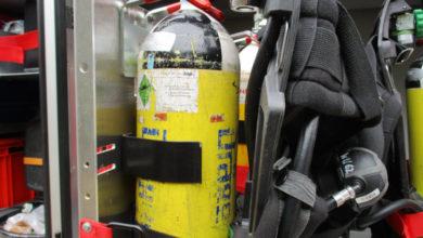 Bild von LKW-Ladung auf Mülldeponie in Brand
