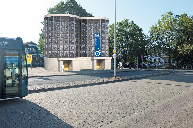 Fahrradparkhaus in Wunstorf