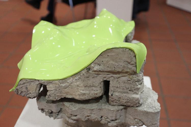 Beton und Glas verschmelzen