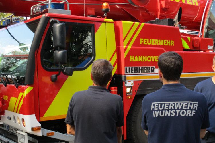 Wunstorfer Feuerwehr grüßt Hannoversche Feuerwehr