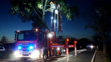 Bild von B441 wegen Feuerwehreinsatz voll gesperrt