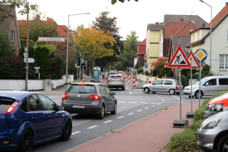 Stau in der Südstraße