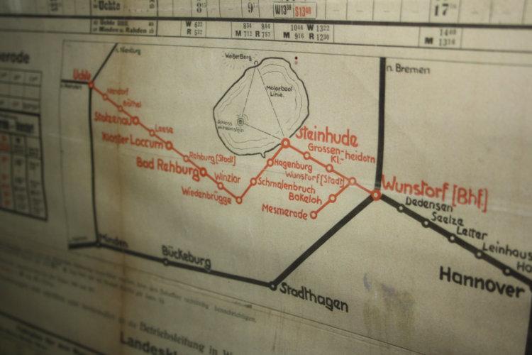 Streckenplan der Meer-Bahn