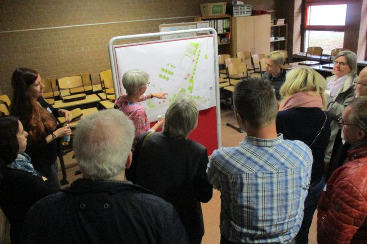 Erläuterung der Platzgestaltungspläne
