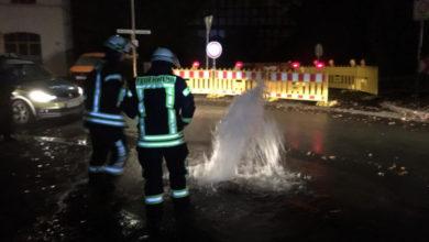 Bild von Nächtliche Wasserfontäne in Bokeloh