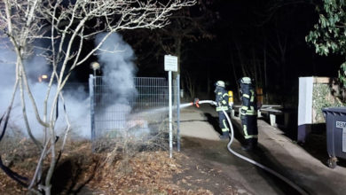 Containerbrand Stadtschule