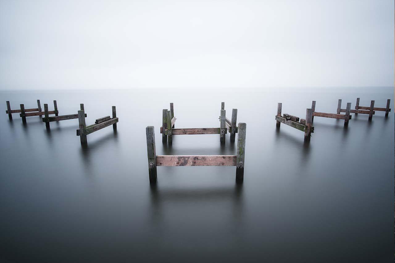 Stege am Steinhuder Meer