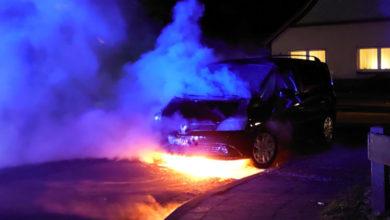 Bild von Van brennt in Hagenburg