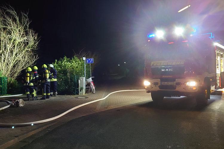 Feuerwehreinsatz in Hagenburg