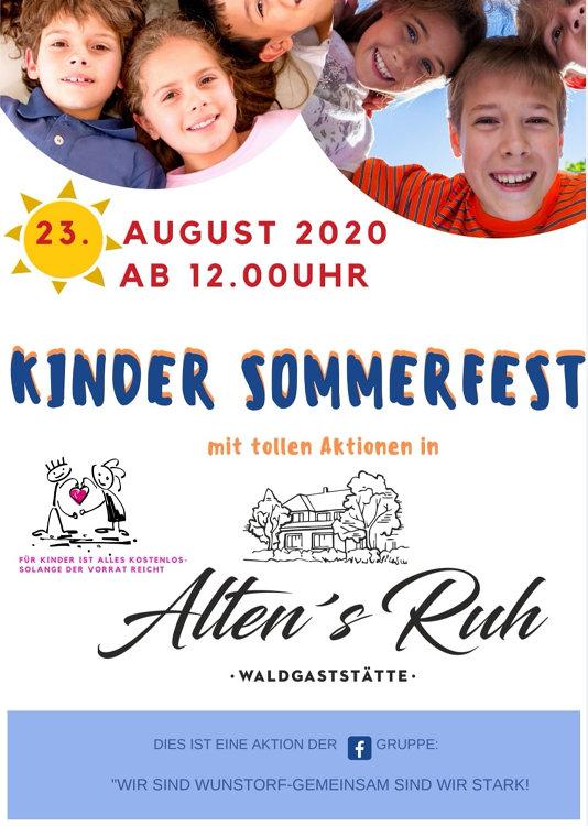 Kindersommerfest 2020