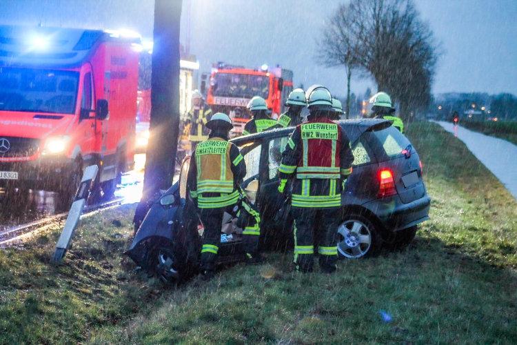 Unfall in der Haster Kurve