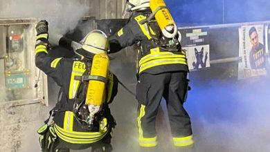 Bild von Feuerwehr zu Verteilerkastenbrand gerufen