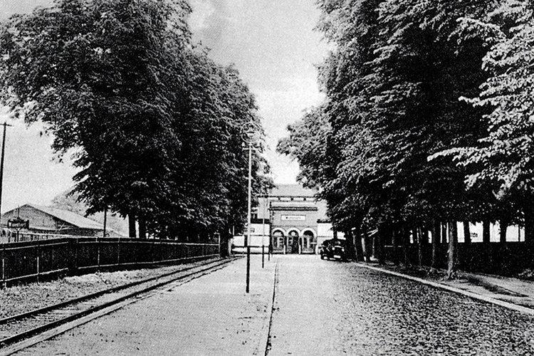 Gleise in der Bahnhofsstraße