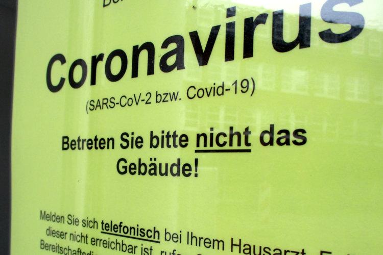 Coronahinweis Rathaus